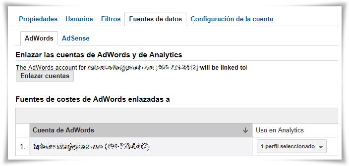Enlazar Google AdWords con Google Analytics - Paso 10 de 10