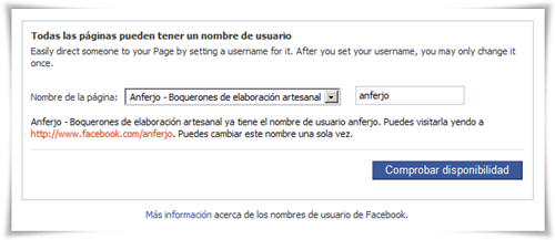 Cómo cambiar el nombre de usuario / URL amigable de una página de Facebook - Confirmación del cambio