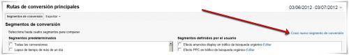 Google Analytics: Añadir segmento de conversión