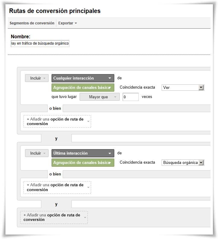 Segmento 1: Efecto anuncios display en tráfico de búsqueda orgánico