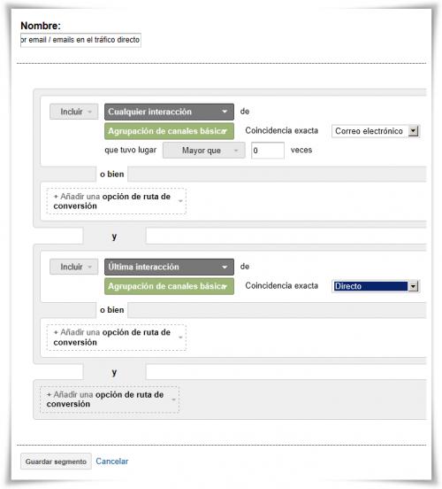 Segmento 8: Efecto de las campañas por email / emails en el tráfico directo