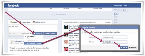 Segmentar por idioma al publicar en una página de Facebook