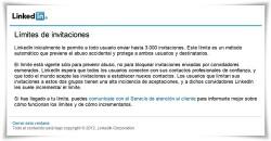 Límites de invitaciones LinkedIN