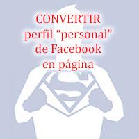 Convertir perfil de Facebook en página: Instrucciones 3