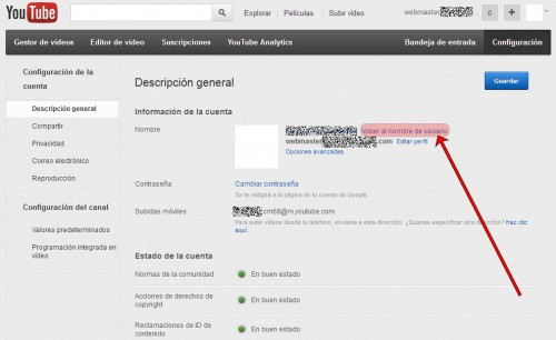 Desvincular YouTube y Google+