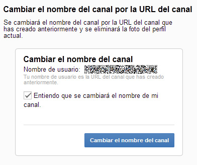 Desvincular YouTube y Google+ 2/3