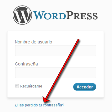 WordPress Login: ¿Has perdido tu contraseña?