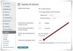 WordPress - Error de codificación UTF-7