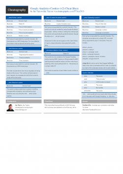 Google Analytics Cookies (v2) Cheat Sheet