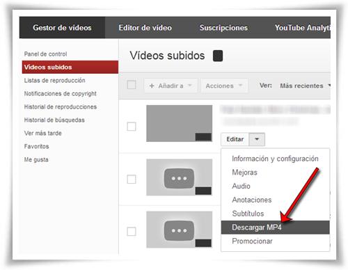 YouTube: Cómo descargar vídeos subidos