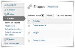 Gestor de enlaces WordPress - WordPress Link Manager