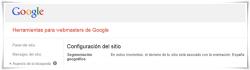 Segmentación geográfico Google WebMaster Tools