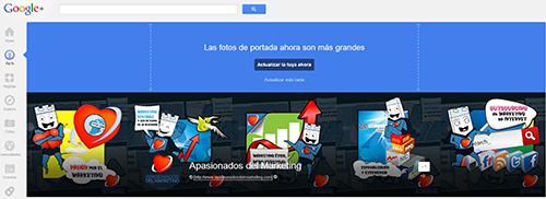 Nuevo tamaño imagen de portada de Google+