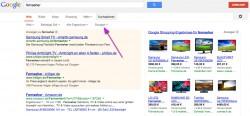 """Ejemplos de búsqueda en google.de por televisiores (""""Fernseher"""")"""
