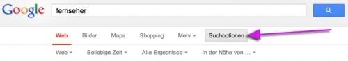 Opciones de Búsqueda en Google Alemania, opciones de búsqueda