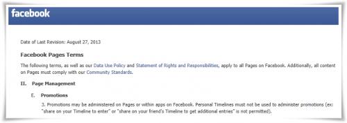 Facebook elimina el requisito de hacer promociones y concursos solo a través de aplicaciones
