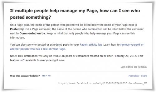 Facebook mostrará en las páginas el nombre del administrador que publique o comente