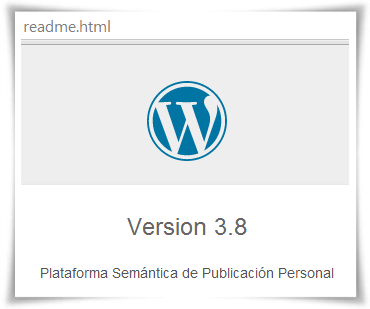 Archivo readme.html de WordPress