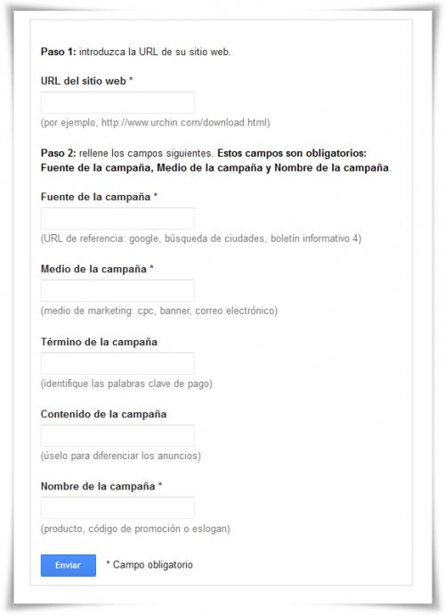Creador URLs de Google