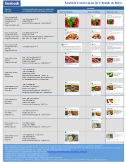 Especificaciones anuncios Facebook (actualizado a 18/marzo/2014)