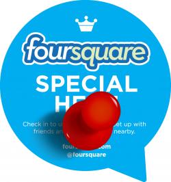 Foursquare Special Pin