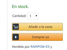 Amazon: Botón COMPRAR YA