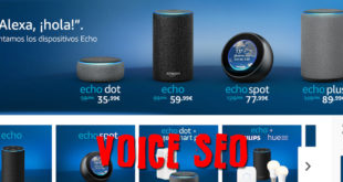 Voice SEO para Amazon Alexa en los dispositivos Echo #VoiceCommerce