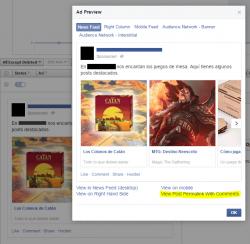 Publica un anuncio de Facebook con 5 imágenes y enlaces como post normal