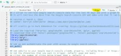 Ejecutar la primera parte del código hasta la autenticación en GSC