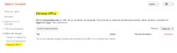 """¿Cuánto tarda la opción """"Eliminar URLs"""" de Google Search Console en eliminar una URL?"""