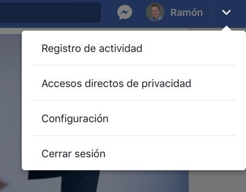 Facebook: Opciones