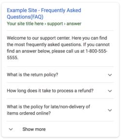 Preguntas frecuentes FAQPage