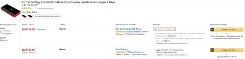 Ficha de producto de Amazon: Más opciones de compra