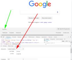 Geolocalización Google Chrome en Valencia
