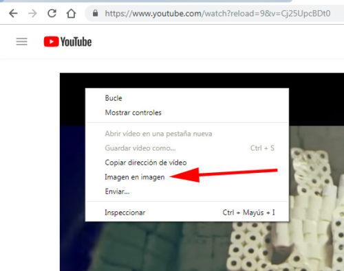Google Chrome:: Menú contextual segundo YouTube (dos veces clic con el botón de la derecha del ratón)