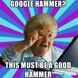 El martillo de Google