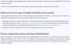 Google se reserva el derecho de: cancelar tu cuenta en cualquier momento, por cualquier motivo, con o sin aviso previo.