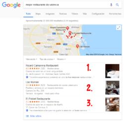 Google Local Business: La importancia de los 3 primeros puestos