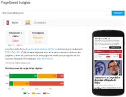 Google PageSpeed Insights ElPais.com