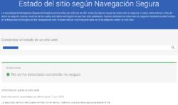 Google Safe Browsing Test: Actualizado ayer