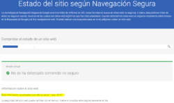 Google Safe Browsing Test: Actualizado hace 3 meses