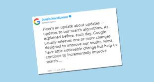 Google y la información sobre sus actualizaciones