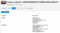 Ejemplo de metadatos de geolocalización EXIF extraidos con ImageForensic (imagen: coldplay-video-capture.jpg)