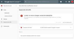 Google Search Console - Inspeccionar URLs - Indexado incorrecto - Error