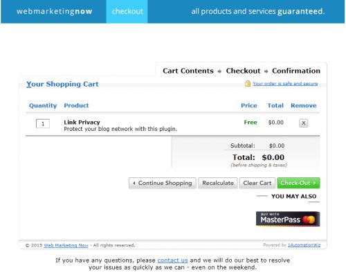 Link Privacy: Comprar el plugin por 0 EUR.