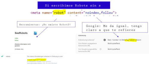 Meta ROBOTS versus META robot