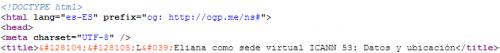 Código fuente: META TITLE con 2 EMOJIS