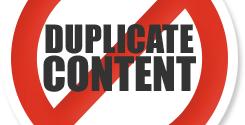 No al contenido duplicado