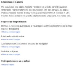 Google PageSpeed Tools para elmundo.es: Estadísticas y Optimizaciones