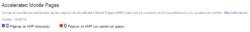 Cero páginas AMP en Google Search Console